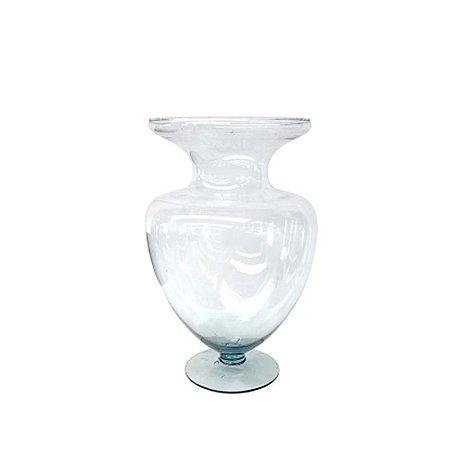 Vaso Corazon de Vidro Transparente 46 cm