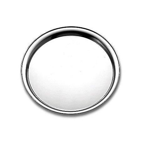 Bandeja de Garçom Prata Redonda 36 cm