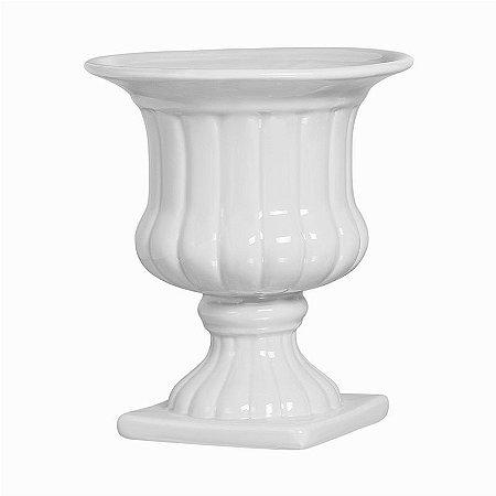 Vaso Anfora de Porcelana Branca Grande