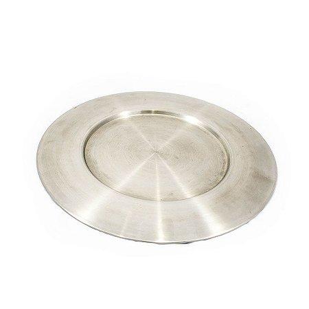 Sousplat Prata de Inox para Jantar Ø 39 cm