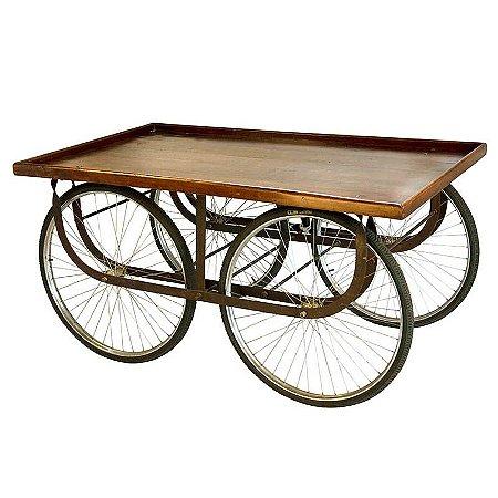Mesa Caloi - Com Rodas de Bicicleta 81x80x180