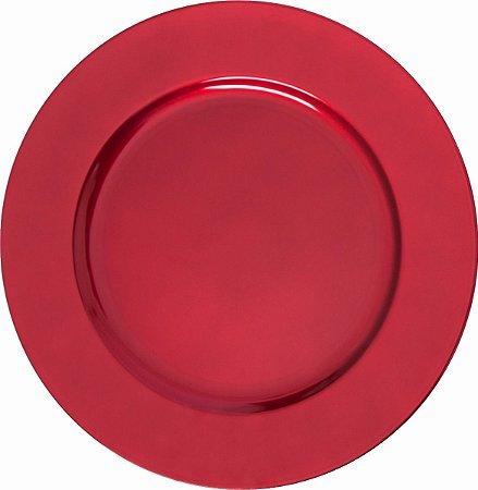 Sousplat Vermelho para Prato Ø 33cm