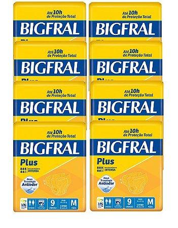 Fralda Geriatrica Bigfral  M Kit 72 Unid