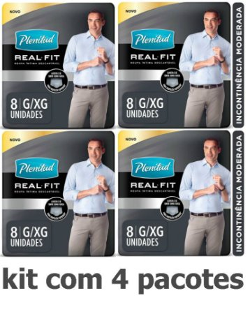 Fralda Plenitud Real Fit Pants (Homem) G/Xg C/32