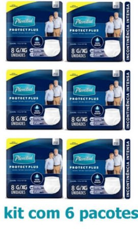 Fralda Geriátrica Plenitud Protec Plus Pants G/Xg C/48