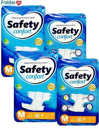 Fralda Geriatrica Safety Confort M- 120 unidades