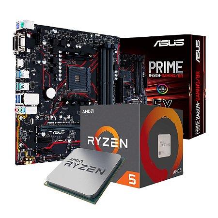 KIT Upgrade - AMD Ryzen 5 1600AF + Asus Prime B450M Gaming/BR