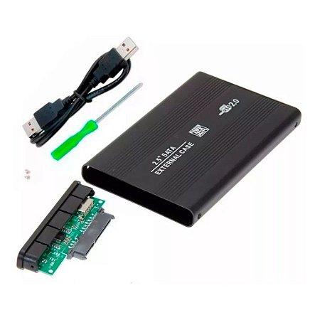 Case Para Hd De Notebook/SSD 2,5 Externo SATA USB 2.0