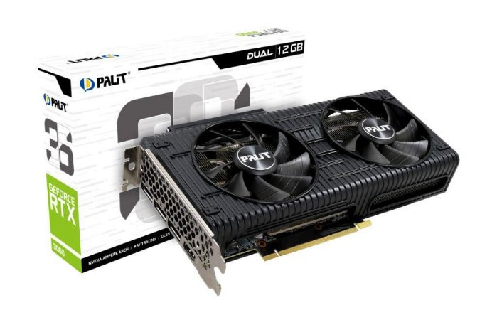 Palit NVIDIA GeForce RTX 3060 Dual 12GB GDDR6 192bit (NE63060019K9-190AD)