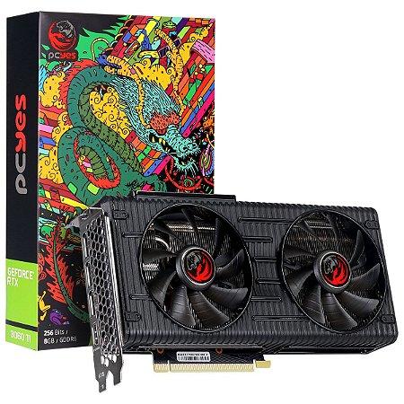 PCYes Geforce RTX 3060 Ti Graffiti Series 8GB 256-Bit GDDR6 LHR (PP3060TI8DR6256)
