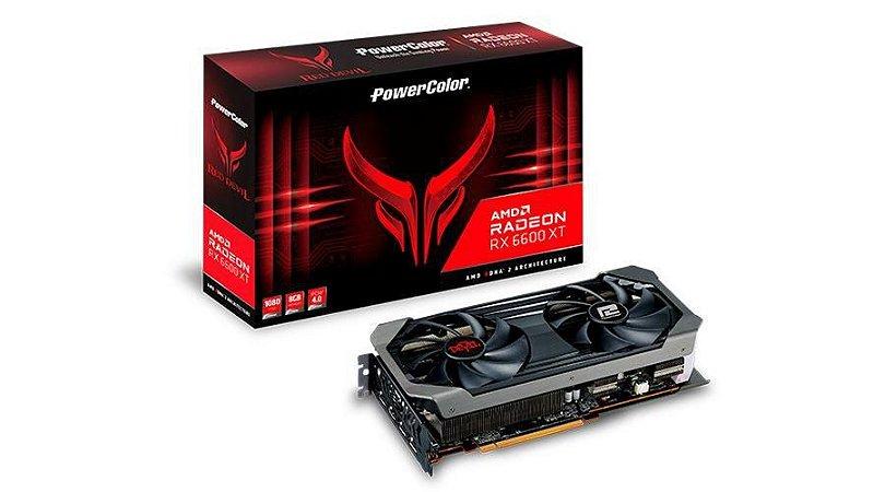 PowerColor Radeon RX 6600 XT Red Devil 8GB GDDR6 FSR Ray Tracing (AXRX 6600XT 8GBD6-3DHE/OC)