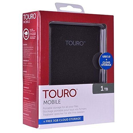 HD Externo Hitachi Portátil 1Tb Touro USB 3.0 (0S03804)
