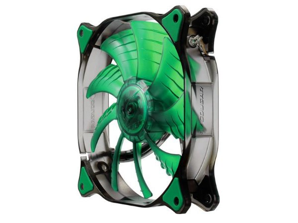 Fan Cougar Green LED 140mm Hydraulic (Liquid) Bearing Ultra Silent Fan (CF-D14HB-G)
