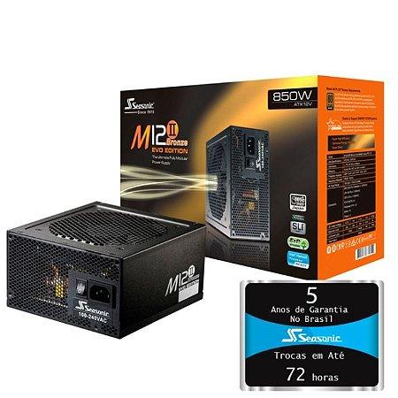 Fonte SeaSonic M12II 850 Evo Edition 850W 80 PLUS BRONZE Certified Full Modular (SS-850AM2)