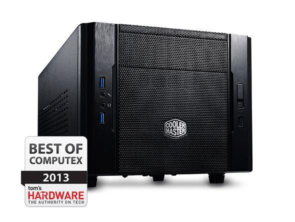 Gabinete Cooler Master Elite 130 Black Mini-ITX c/ tela Mesh (RC-130-KKN1)