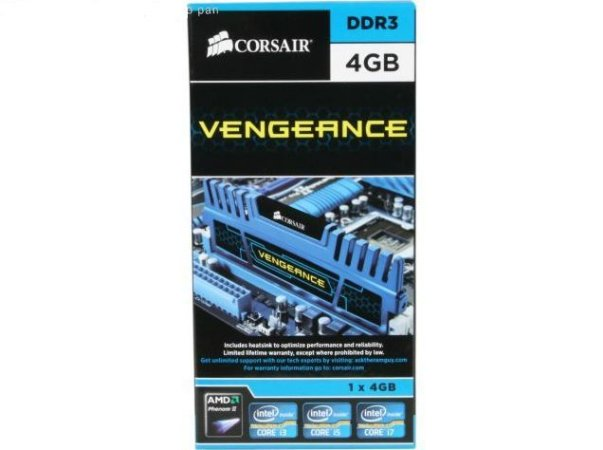 CORSAIR Vengeance Azul 4GB DDR3 1600 (PC3 12800) (CMZ4GX3M1A1600C9B)