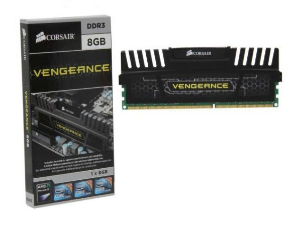 CORSAIR Vengeance Preto 8GB DDR3 1600 (PC3 12800) (CMZ8GX3M1A1600C9)