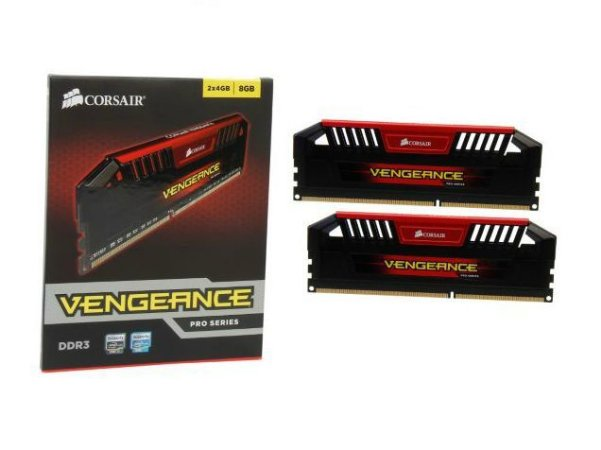 CORSAIR Vengeance Pro Vermelho 8GB (2 x 4GB) DDR3 1600 (PC3 12800) (CMY8GX3M2A1600C9R)