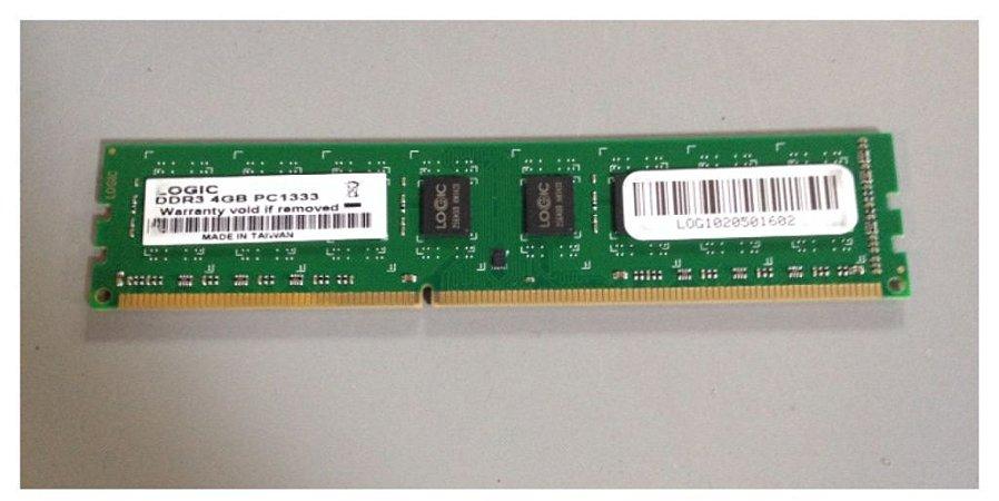 Memória Logic 4GB DDR3 1333Mhz (LGCM4GV1333)