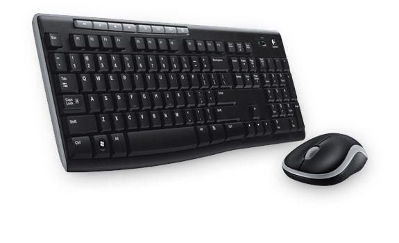 Logitech Wireless Combo MK270 Black Teclado + Mouse USB (920-004536)