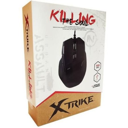 Mouse Gamer X-Trike Killing the Soul USB 2000 DPI Laser 7 Botões (SI-928)