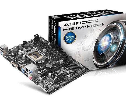 Asrock H81M-HG4 LGA 1150 Intel H81 HDMI SATA 6Gb/s USB 3.0 Micro ATX Intel Motherboard