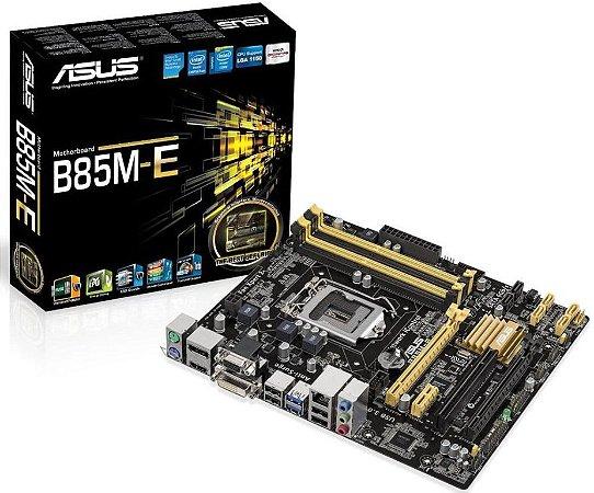 ASUS B85M-E LGA 1150 Intel B85 HDMI SATA 6Gb/s USB 3.0 Micro ATX