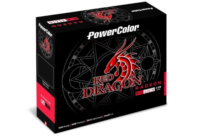 PowerColor RED DRAGON Radeon RX 460 DirectX 12 2GB 128-Bit GDDR5 PCI Express 3.0 (AXRX 460 2GBD5-DH/OC)
