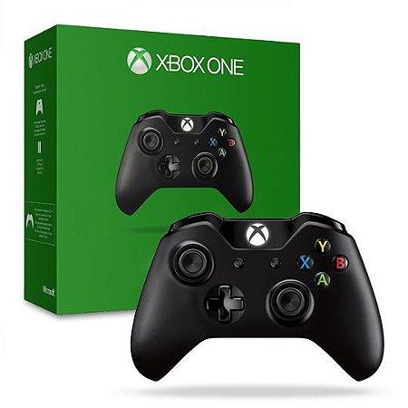 Controle Microsoft Xbox One Wireless Preto c/Jack (EX6-00002)
