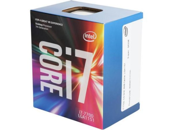 Intel Core i7-7700 Kaby Lake Quad-Core 3.6 GHz LGA 1151 65W  (BX80677I77700)