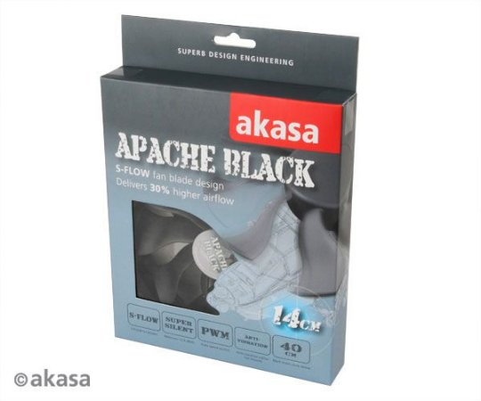 Fan Akasa Apache Black 140MM (AK-FN062)