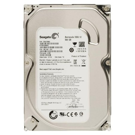 "Seagate Barracuda 500GB 7200 RPM 16MB Cache SATA 6.0Gb/s 3.5"" (ST500DM002)"