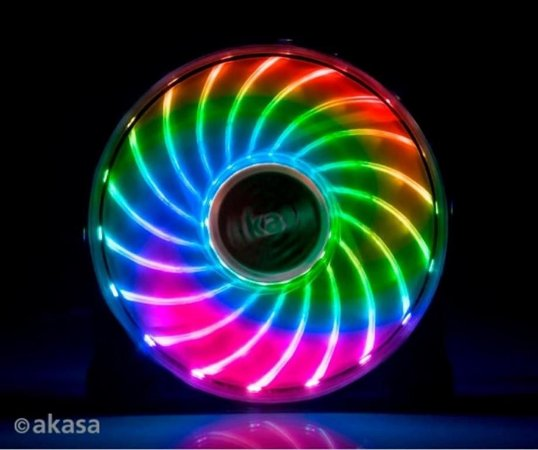 Fan Akasa Vegas 7 120MM 18 LEDs 7 cores (AK-FN092)