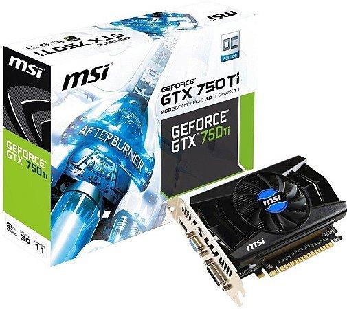 MSI GeForce GTX 750 Ti 2GB 128-Bit GDDR5 PCI Express 3.0 G-SYNC (N750TI-2GD5/OC)