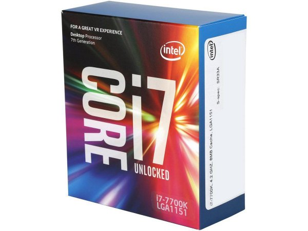 Intel Core i7-7700K Kaby Lake Quad-Core 4.2 GHz 8MB LGA 1151 91W  (BX80677I77700K)