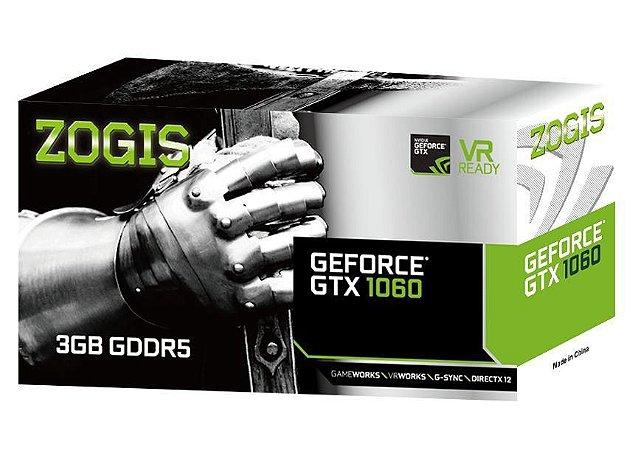 ZOGIS GeForce GTX 1060 3GB GDDR5 192-bit (ZO1060-3GD5H)