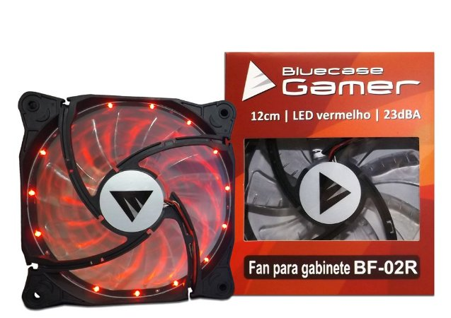 Fan Bluecase Gamer 120mm LED Vermelho BF-02BR