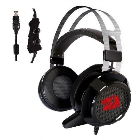 Headset Gamer Redragon H301 Siren 2.0 USB 7.1 Virtual Surround Sound