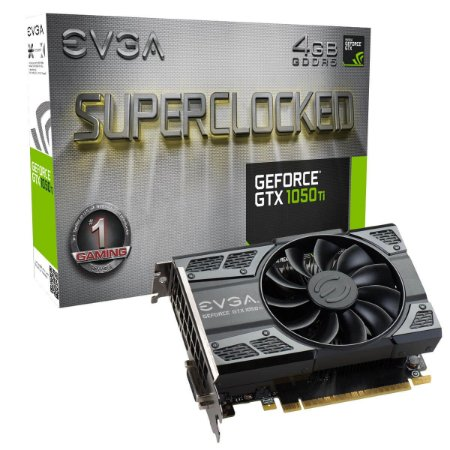 EVGA GeForce GTX 1050 Ti SC Gaming 4GB 128-Bit GDDR5 PCI Express 3.0 (04G-P4-6253-KR)