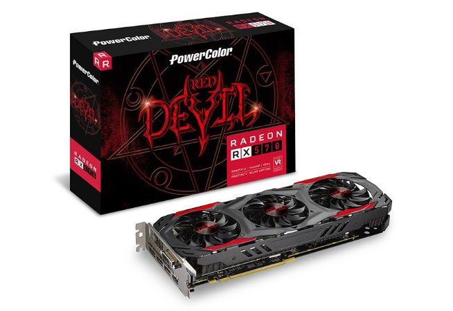 PowerColor RED DEVIL Radeon RX 570 DirectX 12 4GB 256-Bit GDDR5 PCI Express 3.0 CrossFireX (AXRX 570 4GBD5-3DH/OC)