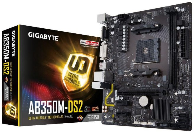 GIGABYTE GA-AB350M-DS2 (rev. 1.0) AM4 AMD B350 SATA 6Gb/s USB 3.1 HDMI Micro ATX AMD