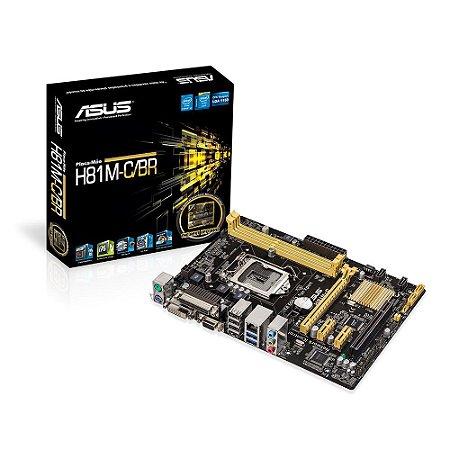 ASUS H81M-C/BR LGA 1150 Intel H81 SATA 6Gb/s USB 3.0 Micro ATX Intel