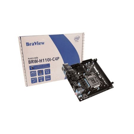 ECS - Braview BRW-H110I-C4P LGA 1151 Intel H110 HDMI SATA 6Gb/s USB 3.0 Mini ITX