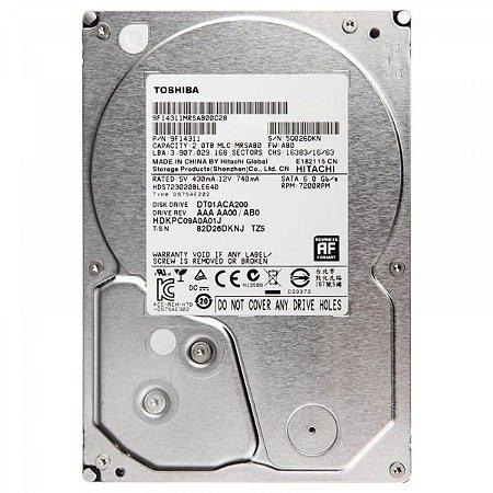 "Toshiba 2TB 64MB Cache SATA 6.0Gb/s 3.5"" 7200RPM (DT01ACA200)"