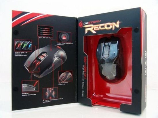Mouse Cooler Master Storm Recon 4000 DPI Gaming Mouse Preto (SGM-4001-KLLW1)