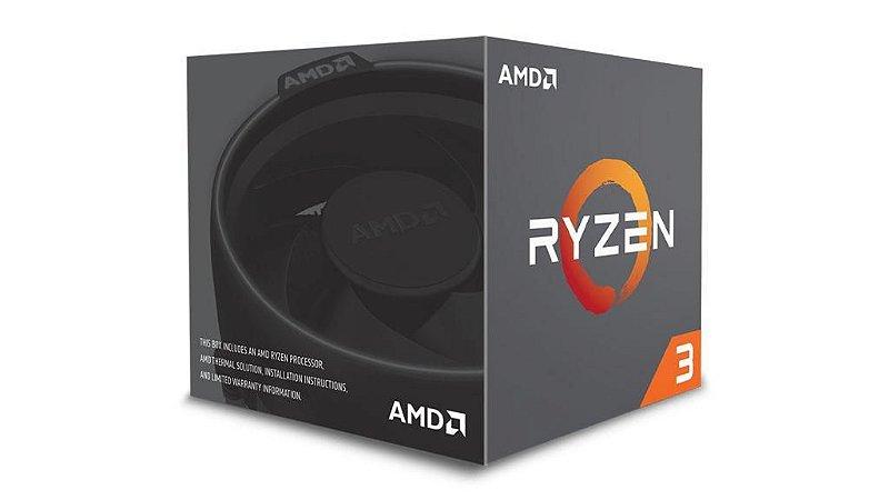AMD RYZEN 3 1200 c/ Wraith Cooler 4-Core 3.1 GHz (3.4 GHz Turbo) Cache 10MB Socket AM4 65W (YD1200BBAEBOX)