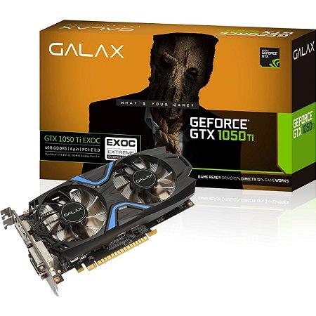 Galax GeForce GTX 1050 Ti EXOC 4GB 128-Bit GDDR5 PCI Express 3.0 (50IQH8DVN6EC)