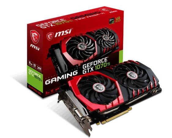 MSI GeForce GTX 1070 Ti GAMING 8G 8GB 256-Bit GDDR5 DX 12 PCI Express 3.0 x16 HDCP Ready SLI