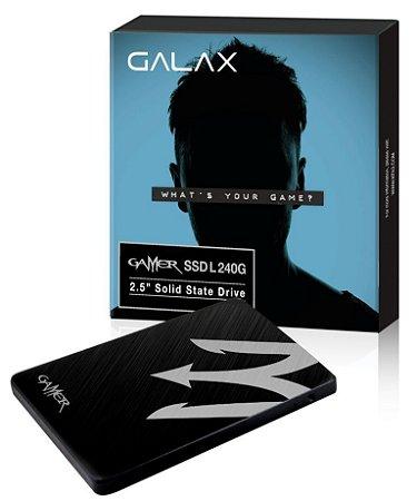 Galax Gamer L VT100T 240GB SATA III Leitura 520MBS Gravação 500MBS (TIAA1D4M4BG49CNSBCYDXN)