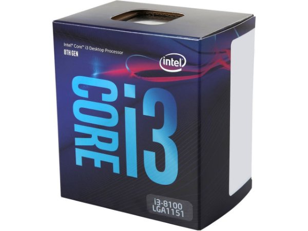 Intel Core i3-8100 Coffee Lake Quad-Core 3.6 GHz LGA 1151 (300 Series) 65W Intel UHD Graphics 630 (BX80684I38100)